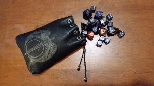 Peter's handmade dice bag.